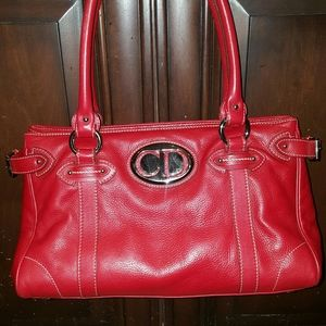 Auth Christian Dior Leather satchel purse